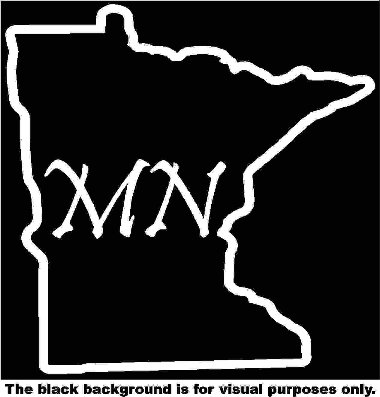 States Minnesota Decal Sticker Vinyl Car Window Tumblers Wall Laptops Cellphones Phones Tablets Ipads Helmets Motorcycles Computer Towers V and T Gifts