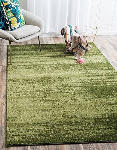 Unique Loom Del Mar Collection Green 10 x 13 Area Rug (10' x 13') Green Garden Rug