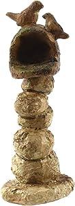 TG,LLC Treasure Gurus Miniature Stone Pillar Mailbox Fairy Garden Accessory Dollhouse Landscape Decor