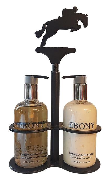Amazoncom Ironwork Soap And Lotion Dispenser Set Horse Jumping