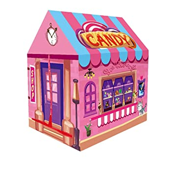 Kids Play Tent,Candy Shop Playhouse,Ooudoor/Indoor Use Durable Large Toy  Storage