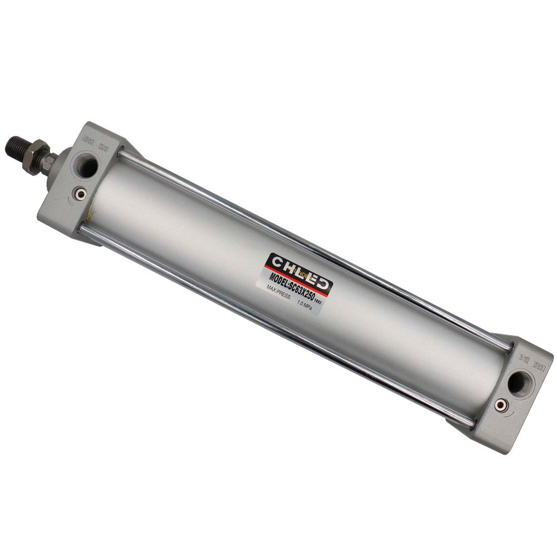 Baomain Standard Cylinder SC 63 X 250 G3/8'', Bore: 2 1/2 inch, Stroke: 10 inch, Screwed Piston Rod Double-action type
