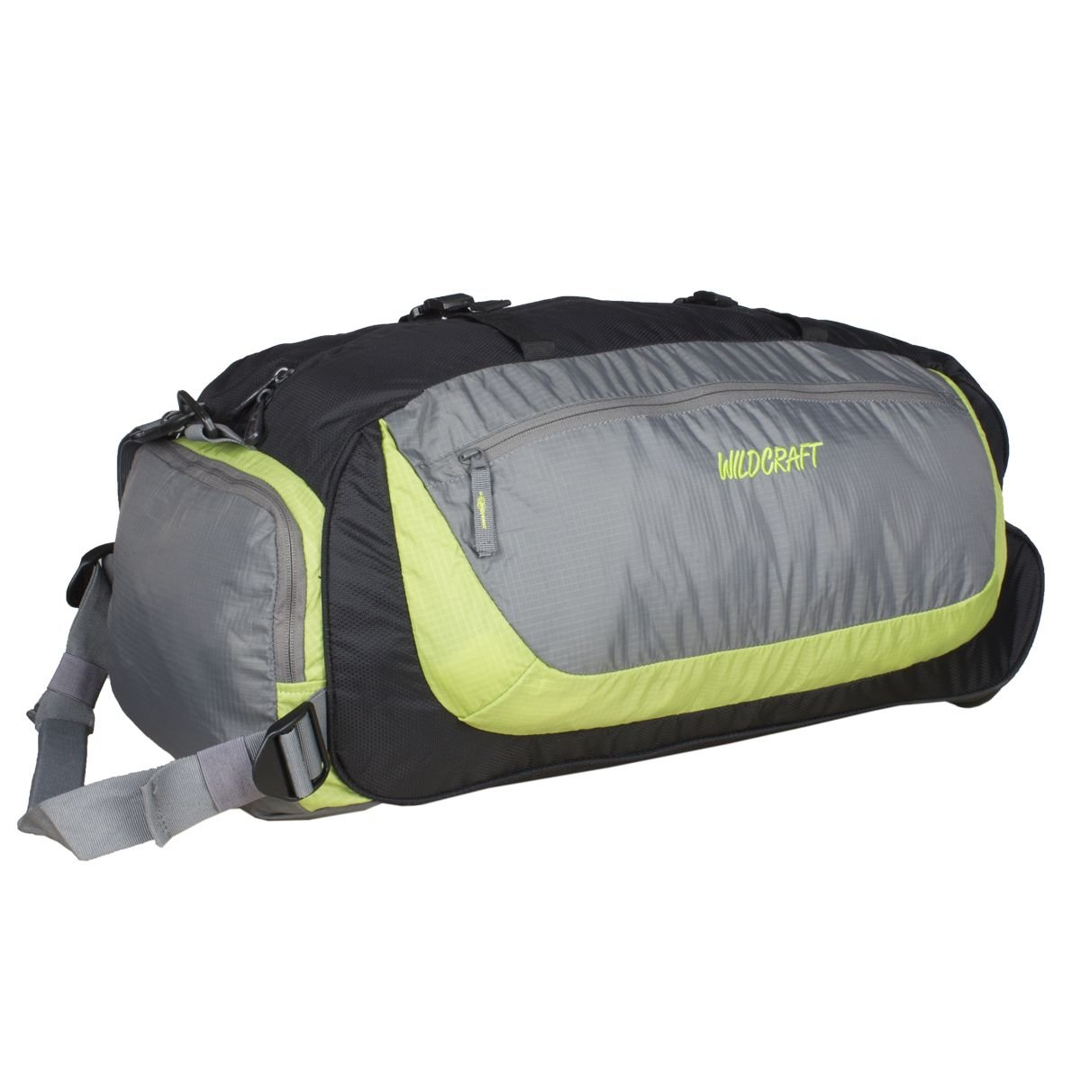14563ca554 Wildcraft Rover Nylon 58.4 cms Green Softsided Travel Duffle  (8903338010678)  Amazon.in  Bags