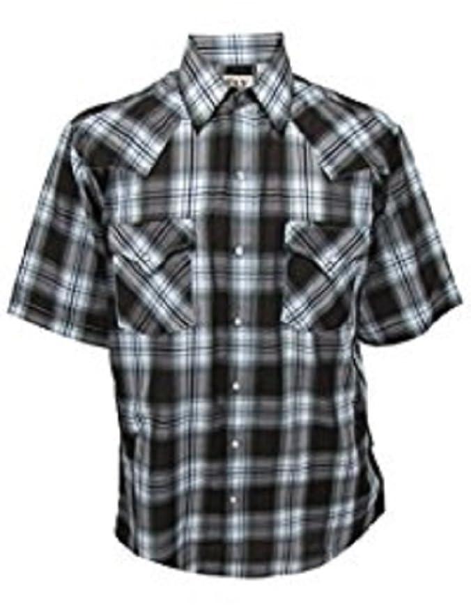 f1e5aee24c7f33 Amazon.com  Ely Cattleman Men s Short Sleeve Stripe Snap Western Shirt   Clothing