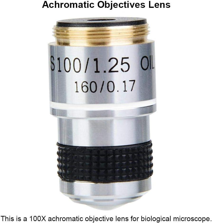 Pbzydu Achromatic Objective Lens 100X 185 Biological Microscope Achromatic Objectives Lens 160//0.17