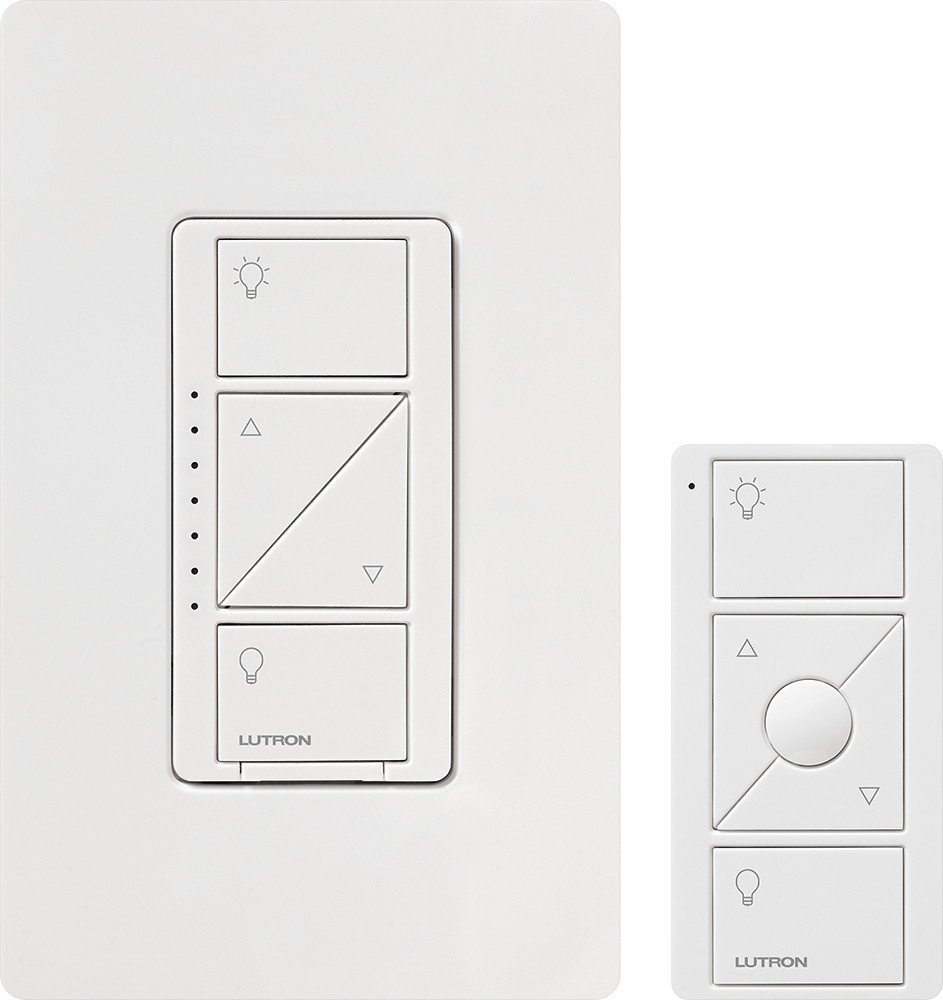 Lutron P Pkg1w Wh R 120v Smart Lighting Dimmer Switch And Remote Kit Multi Location Wiring Diagram Ma For Wall Ceiling Lights
