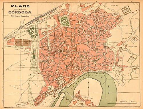 Cordoba. Plano Antiguo de la cuidad. Antiguo Ciudad/ciudad Plan. Martin – C1911 – Old Antiguo Mapa Vintage – Mapas de Impreso de España: Amazon.es: Hogar