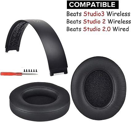 Amazon Com Studio 2 0 Earpads Headband Replacement Ear Pad Cushion Top Head Band Arch Compatible With Beats Studio 2 Studio 3 Wireless Over Ear Headphones Home Audio Theater