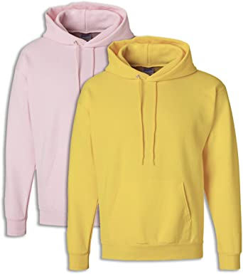 1 White Hanes Mens EcoSmart Hooded Sweatshirt Large 1 Pale Pink