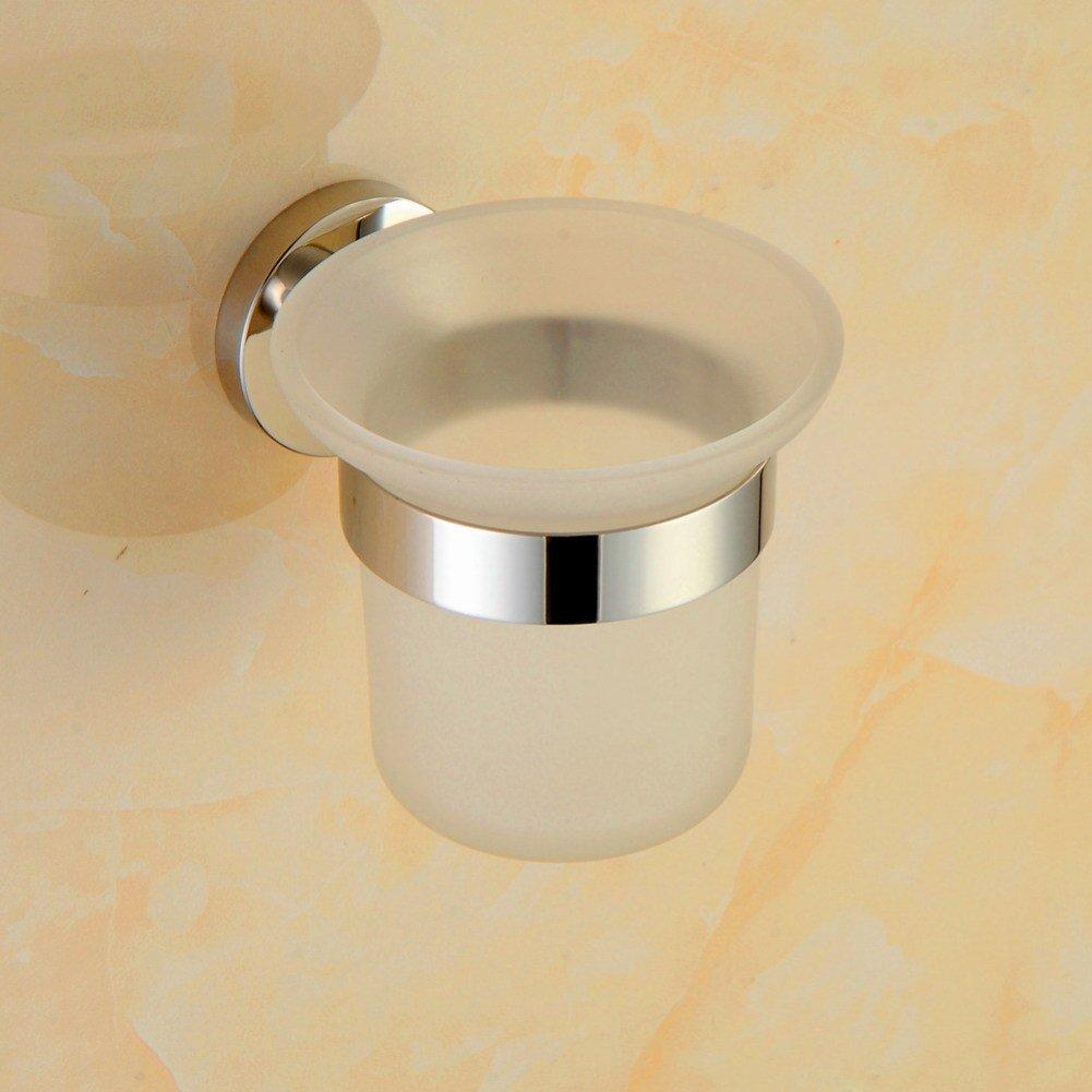GZF klo bürstenhalter Toilettenbürste 304 aus Edelstahl Spiegel einfach Toiletten Bürstenhalter Toilettenbecher Wand- Toilettenbürstengarnitur