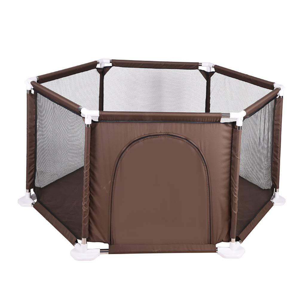 非常に高い品質 ベビーサークル ホーム幼児安全性高い保護ベビープレイペン :、6パネル コーヒーカラー、ジッパーのドアのためのフェンスを再生する (色 : コーヒーカラー B07KZVKC6T こ゜ひ゜から゜) B07KZVKC6T, ナガトシ:998dafed --- a0267596.xsph.ru