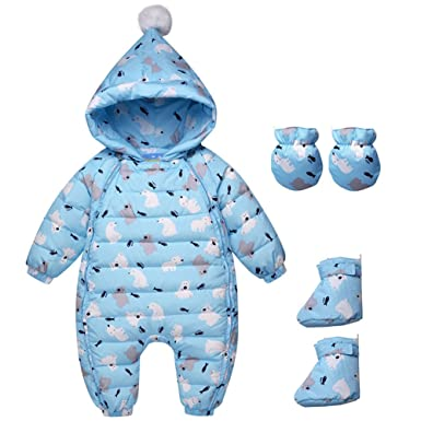 f20b04428 Cold Winter Rompers Baby Clothes Kids Duck Down Cotton Overalls ...