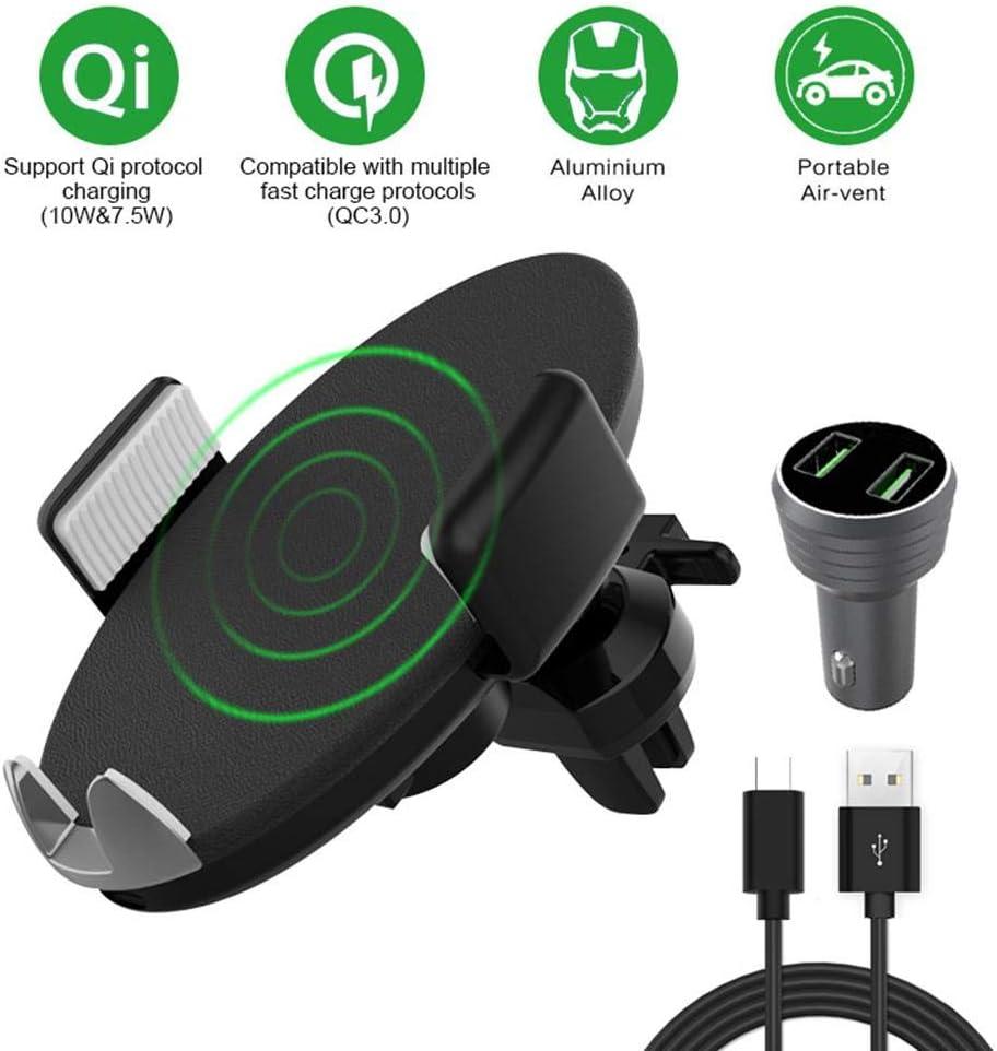 Rose FRFJY Strass Voiture Chargeur T/él/éphone Portable Double USB Rapide Chargement avec Urgence Disjoncteur Int/érieur D/écoration