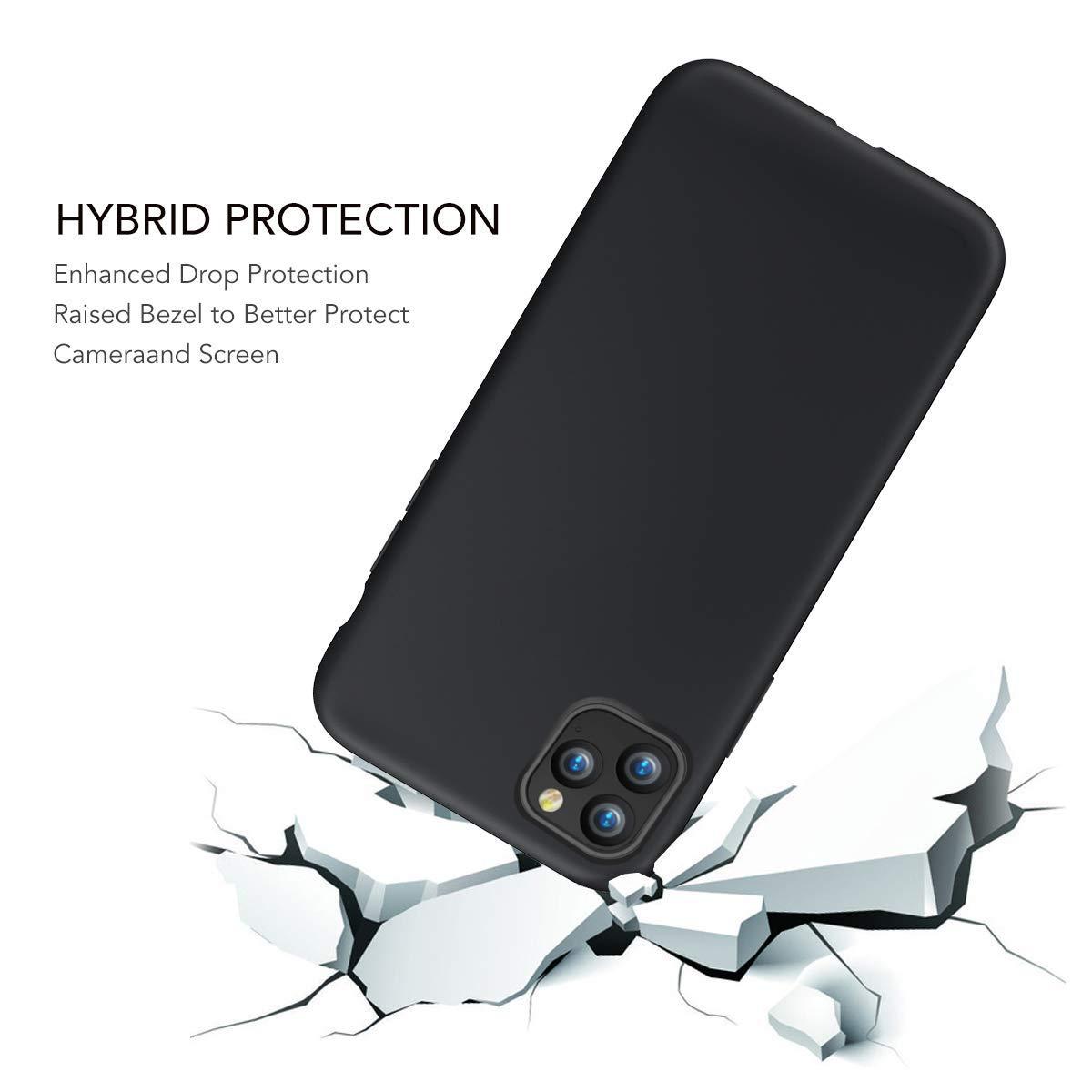 Compatible con iPhone 11 Pro Ultra Fina Suave Protecci/ón Carcasa Microfibra Suave Coj/ín Anti-rasgu/ños Tel/éfono Caso Bumper Oihxse Mate L/íquido de Silicona Gel Funda Azul