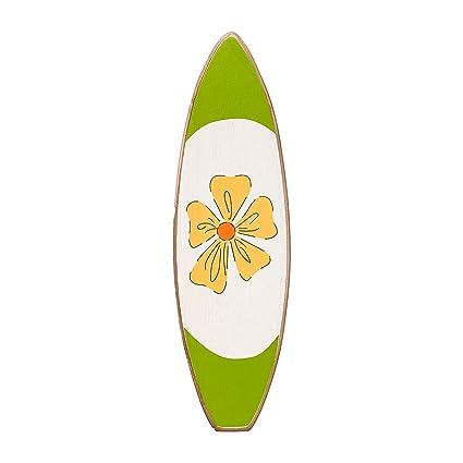 Funda para tabla de Surf - verde diseño de flores con cristales - de madera de