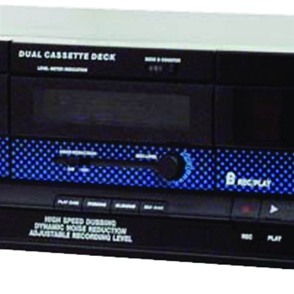 RCA Dual Cassette Deck in Black by Pyle