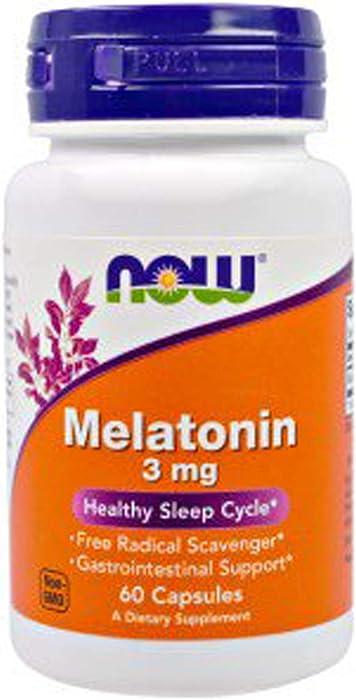 Top 10 Now Food Melatonin 3 Mg 60 Capsules