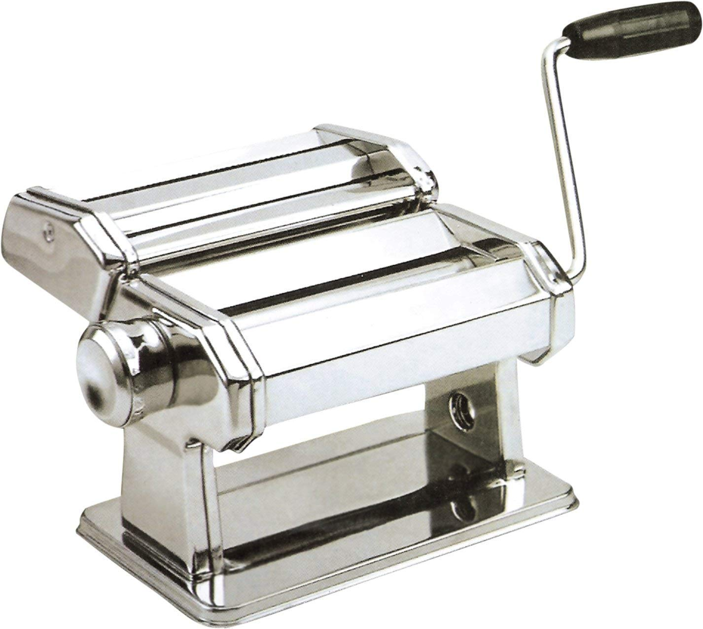Josef Strauss Gourmet Manual Pasta Maker Machine | Makes Spaghetti and Fettuccini, Seven Adjustable Thickness Settings, 6 Inch Wide Roller, Stainless Steel by Josef Strauss