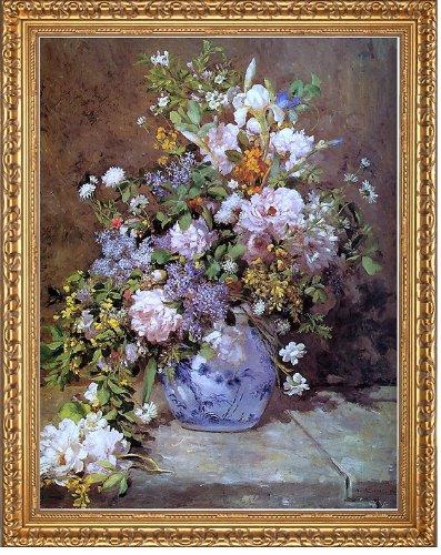 Art Oyster Pierre Auguste Renoir Spring Bouquet - 21.05