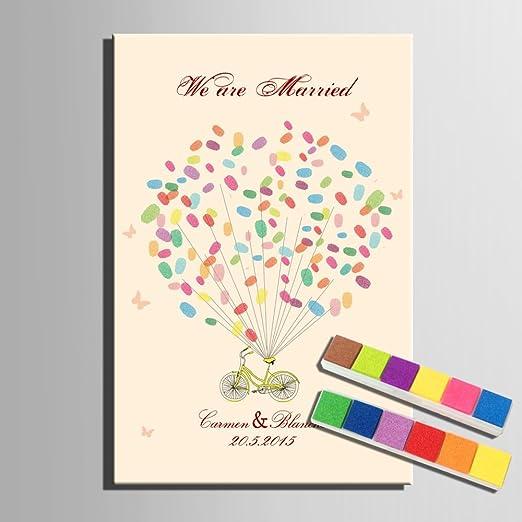 Cxqwan Diy Fingerabdruck Unterschrift Gemälde Hochzeit Kind