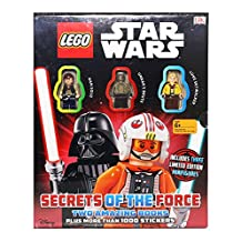 LEGO Star Wars - Secrets of the Force Pack - 2 Books, 1000+ Stickers, and 3 Limited Edition Minifigures
