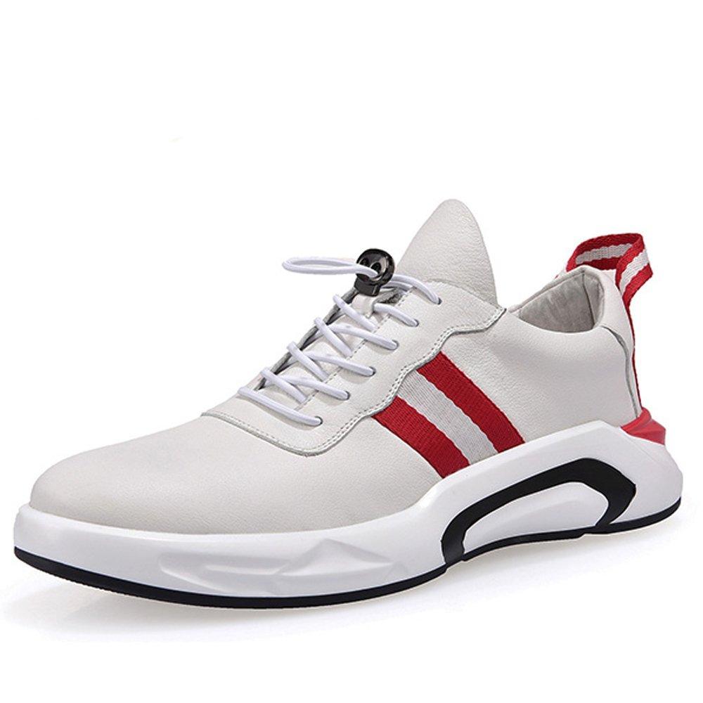GoldGOD Gezeitenschuhe Der Ledernen Männer Beschuht Wilde Weiße Weiße Weiße Schuhe Der Sportschuhmänner Beiläufige Schuhschuhe,Weiß,43 e51565