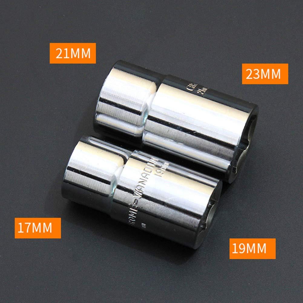 BONNIO Teleskop-Schraubenschl/üssel Ausziehbare Radhalterung mit 17-23 mm Standardsteckdosen Auto-Notwerkzeug