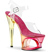 Pleaser MOON-708MCT Clr/Pink Tinted UK
