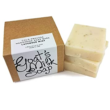Amazon.com: Jabón de barra de leche de cabra fresca hecho a ...
