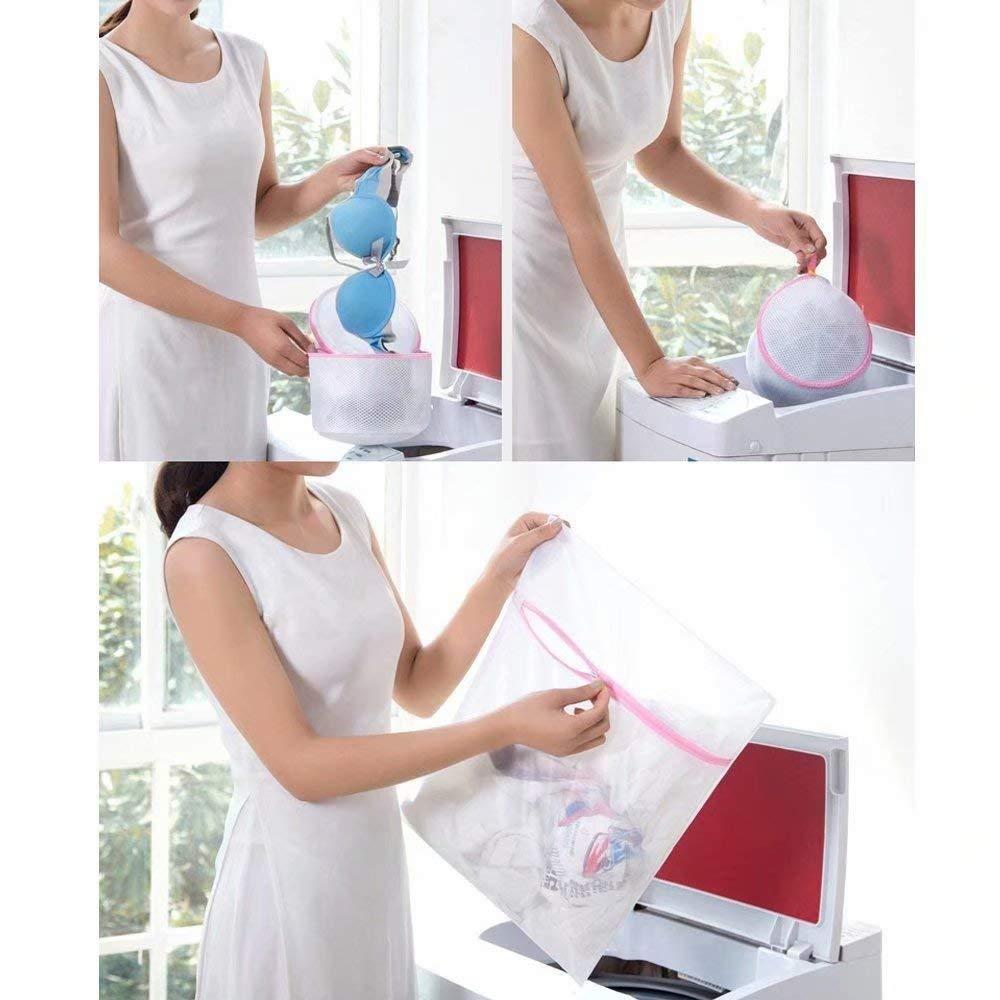 Travel Laundry Bag Underwear Bra and Lingerie Stocking 6PCS Laundry Delicates Mesh Bag,Blouse Hosiery
