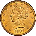 1901 O $10 Liberty Gold Ten Dollar MS64 PCGS+\CAC
