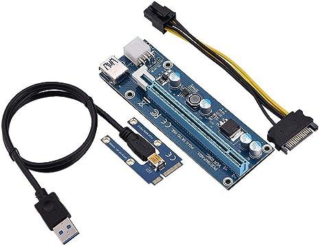 PCI-E Express 1x a 16x Minería Máquina Riser Adaptador mejorada con Cable USB 3.0