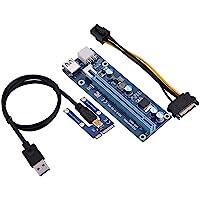 eboxer Mini Adaptador PCI-E a PCI Express16x Extender Riser con Cable de alimentación SATA para minería de Tarjetas de Video