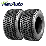 Set of 2 16x6.5-8 16x6.5x8 Tires Lawn Mower Tractor, 4PR, Tubeless,DOT Compliant