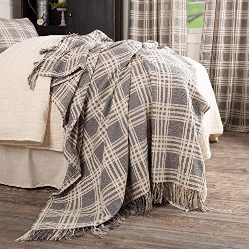 (Piper Classics Logan Gray Throw Blanket, Oversized, 70
