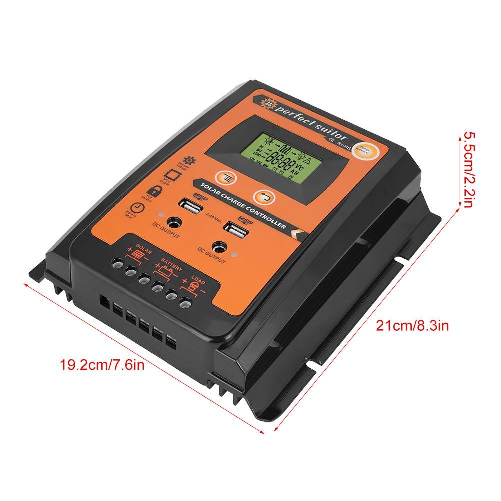 30a 50a Mppt Solar Charge Controller Panel Acid Battery Charger Using Scr Bargraph Type Led Tachometer Circuit Intelligent Regulator With Dual Usb Port And Lcd Display 12v 24v50a Automotive