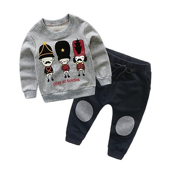 669203814 Camisas niña niño Bebé Chicas Chicos Sudaderas Tops de Dibujos Animados +  Conjunto de Ropa de Trajes de Pantalones 2-6 Años ❤ Modaworld: Amazon.es:  Ropa ...