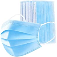 Valuell 30 Pack Disposable Face 3-layer Breathable Filter for Home Office, Blue