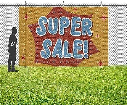 Super Sale Nostalgia Burst Wind-Resistant Outdoor Mesh Vinyl Banner CGSignLab 9x6