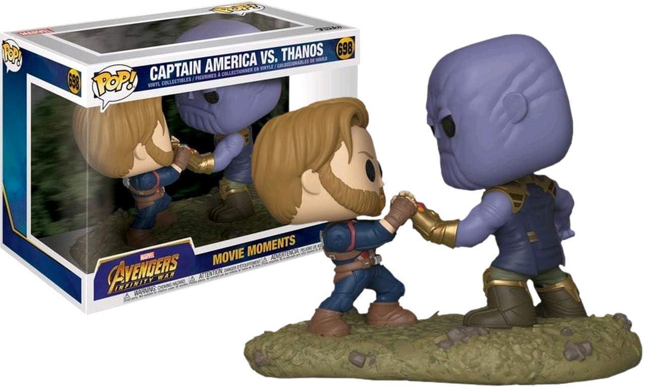 Funko Pop! Marvel Avengers Infinity War Captain America vs. Thanos Movie Moments Exclusive Figure Set: Amazon.es: Juguetes y juegos