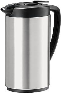 Oggi 6566.0 Stainless Steel Oval Carafe, 1 Liter Capacity
