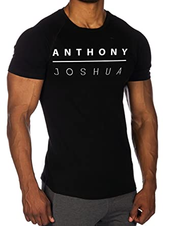 f69ee886 Anthony Joshua Boxing T-Shirt - Gym Training Workout Tee Shirt (L):  Amazon.co.uk: Clothing