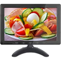 10.1 inch HD CCTV Monitor Small LCD Monitors Screen with HDMI/VGA/AV Port for DVR/PC/DVD/Home Office Surveillance Secure…