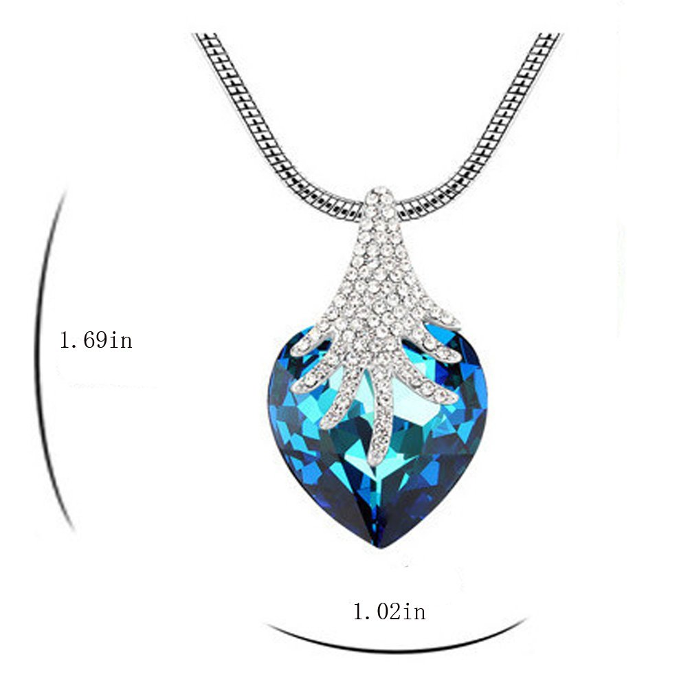 AGOKO Hey/♥Lady Fashion High Grade Pendant Necklace Crystal the Forst of Rhapsody