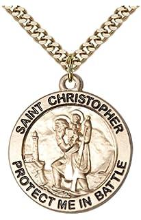DiamondJewelryNY 14kt Gold Filled San Miguel Arcangel Pendant