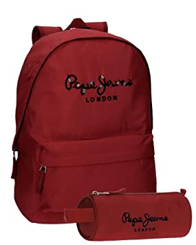 Pepe Jeans Harlow Mochila Escolar, 42 cm, 22.79 litros, Rojo: Amazon.es: Equipaje
