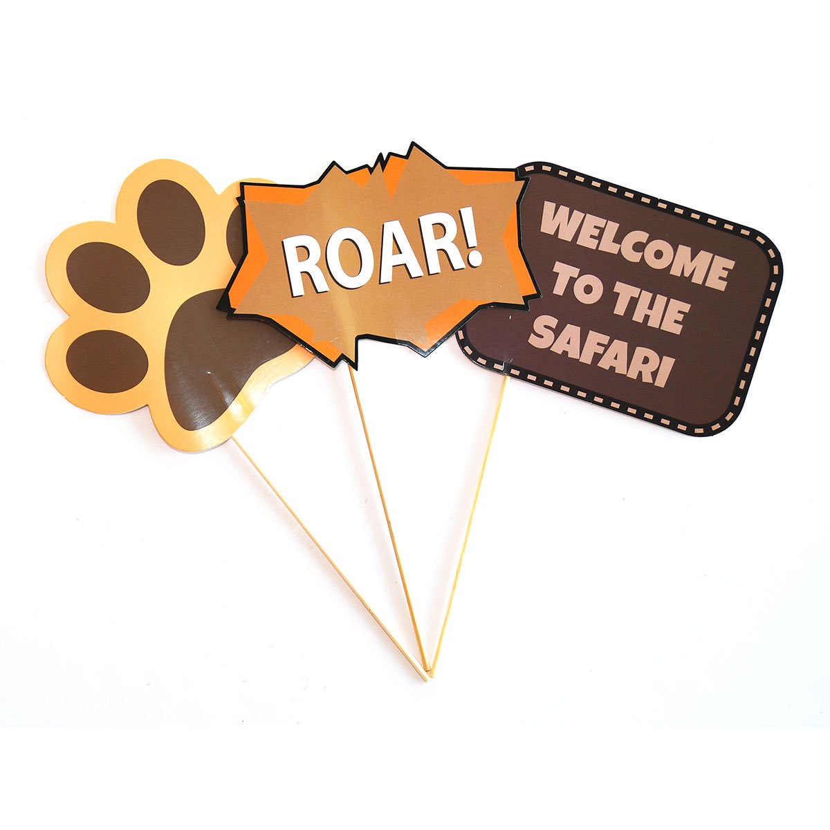 Blue Orchards Safari Photo Props (32 Pieces) for Photo Booths, Kids Birthdays, Jungle Themed Parties and More! Our Safari Photo Booth Party Favors are Pre-Made (Not DIY) for Your Convenience! by Blue Orchards (Image #3)