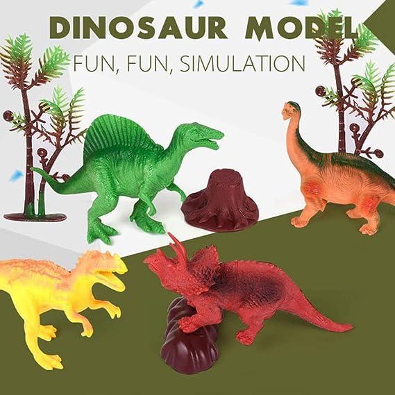 Kids Dinosauri FIGURE PLAYSET Giocattoli Ragazzi Ragazze Bambino Attività tappeto di gioco 60pcs