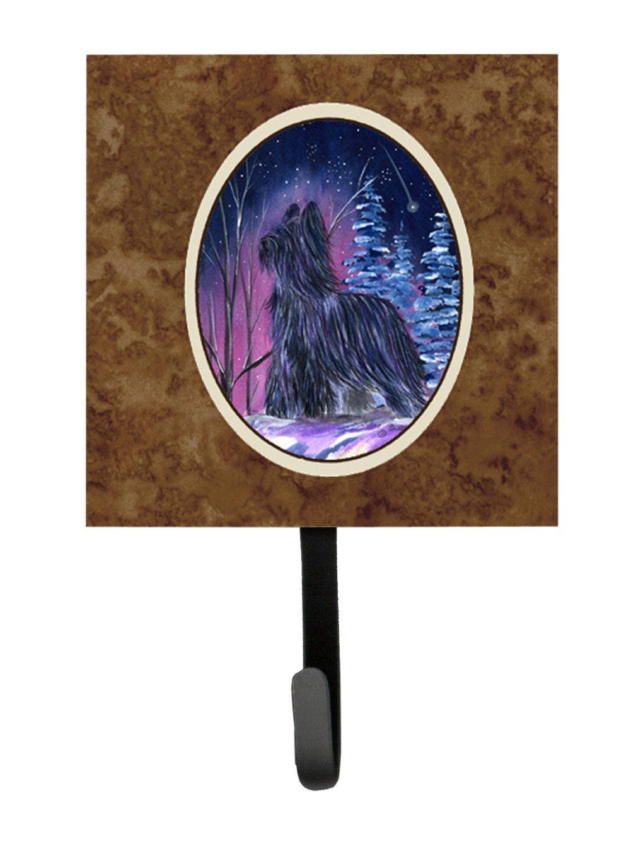 Small Carolines Treasures SS8366SH4 Starry Night Briard Leash Holder or Key Hook Multicolor