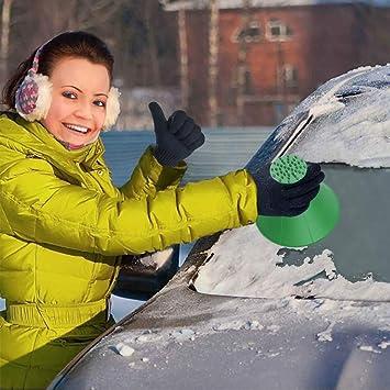 Huhuday Eiskratzer Auto Eisschaber Auto Rundes Magisches Kegelförmiges Eiskratzer Reinigung Schneeschaufel Werkzeug Eiskratzen Für Auto Windschutzscheibe Schneeschaufel Eisschaber Auto
